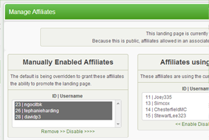 Create private offers by Enabling / Disabling Affiliates