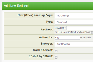 Create redirects based on time, affiliate, offer and more